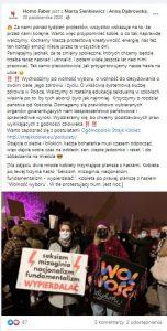 Stowarzyszenie Homo Faber - screen z facebooka