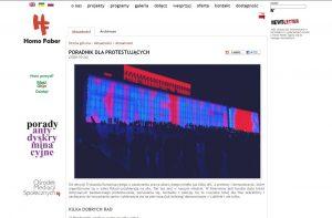 Stowarzyszenie Homo Faber - screen z ich strony internetowej